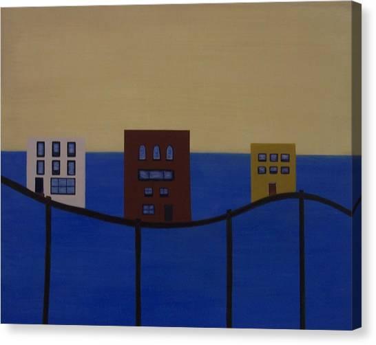 Waterfront Property Canvas Print by Sandy Bostelman