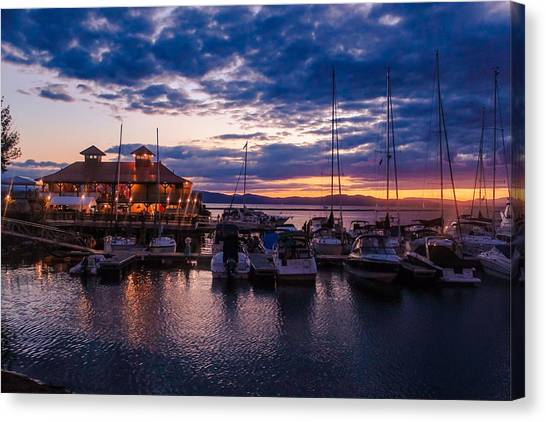 Waterfront Summer Sunset Canvas Print