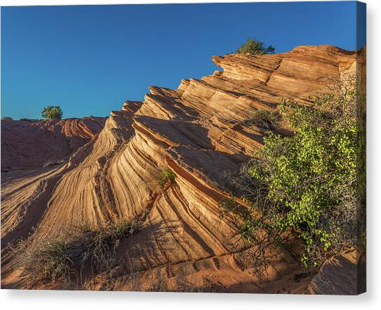 Waterhole Canyon Rock Formation Canvas Print