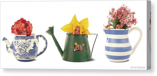 Canvas Print - Watering Cans by Anne Geddes