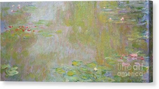 Lilies Canvas Print - Waterlilies At Giverny by Claude Monet
