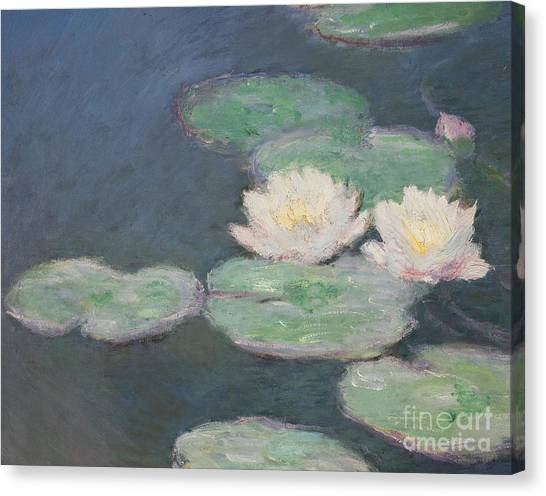 Jardin Canvas Print - Waterlilies by Claude Monet