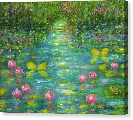Waterlily Butterflies Canvas Print