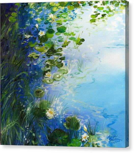 Waterlily Landscape Canvas Print by Marcia Baldwin
