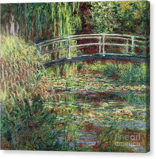 1900 Canvas Print - Waterlily Pond by Claude Monet