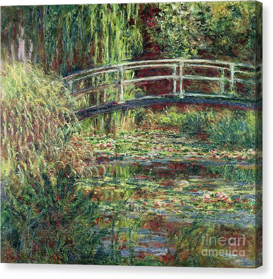 Lily Pond Canvas Print - Waterlily Pond Pink Harmony 1900 by Claude Monet
