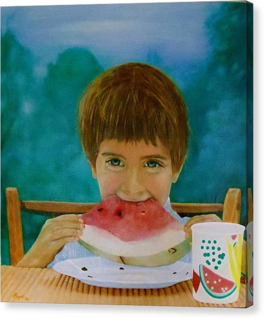 Watermelon Time Canvas Print