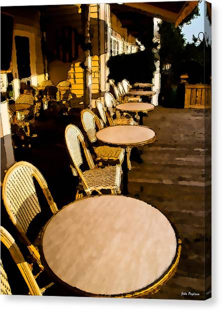 Waterside Cafe Canvas Print