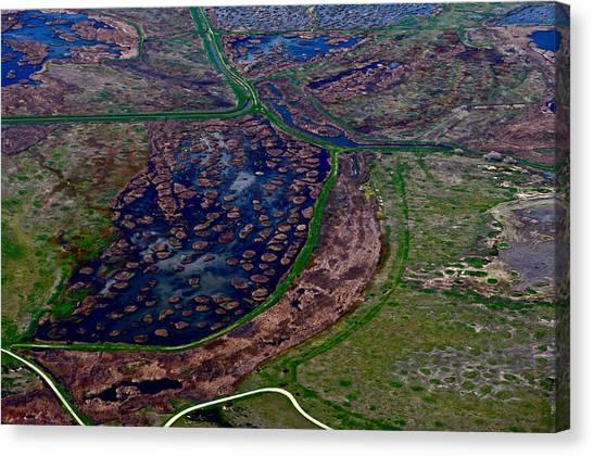 Waterways 1 Canvas Print by Sylvan Adams