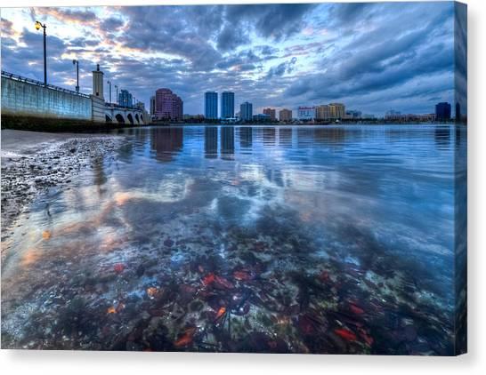 Flagler Beach Canvas Print - Watery Treasure by Debra and Dave Vanderlaan