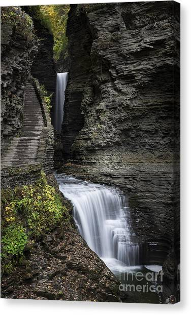 Cornell University Canvas Print - Watkins Glen Waterfall  by John Greim