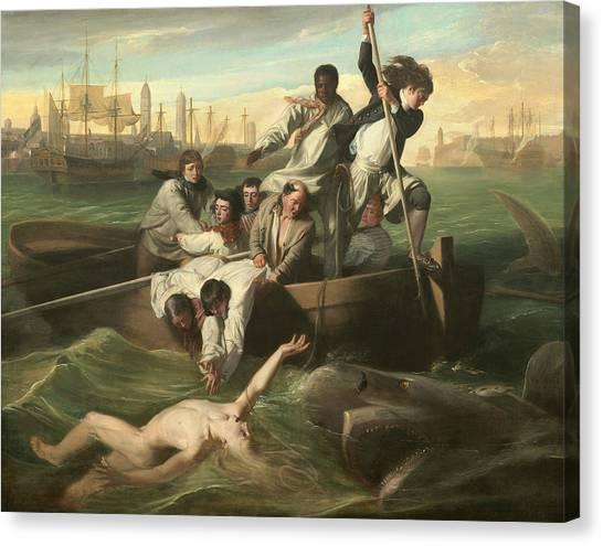 John Boats Canvas Print - Watson And The Shark by John Singleton Copley