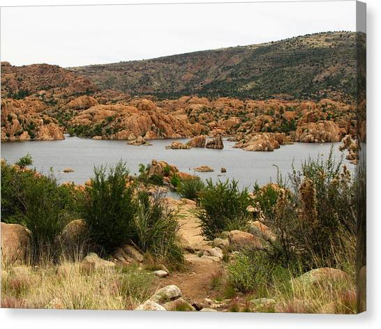 Canvas Print - Watson Lake Day by Marilyn Smith