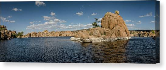 Watson Lake Panorama Canvas Print