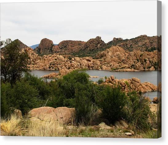 Canvas Print - Watson Lake Rocks by Marilyn Smith