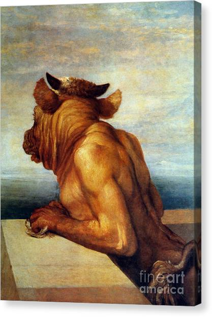Minotaurs Canvas Print - Watts: The Minotaur by Granger