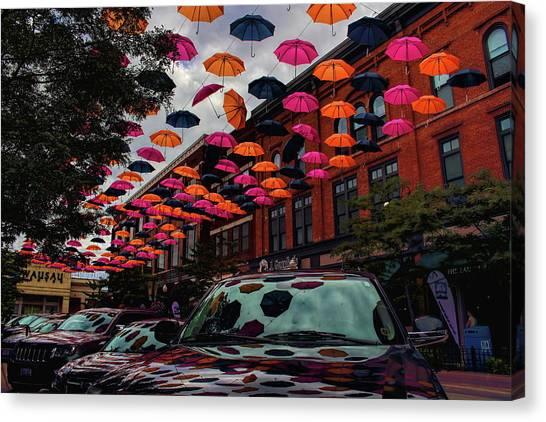 Wausau's Downtown Umbrellas Canvas Print