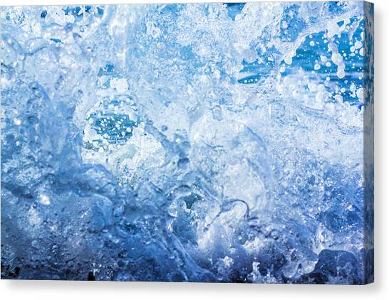 Wave With Hole Canvas Print
