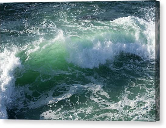 Wave At Montana De Oro Canvas Print