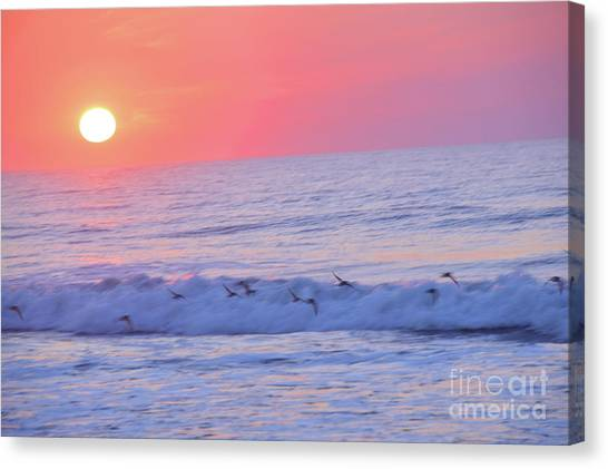 Wave Of Gratitude Nature Art Canvas Print