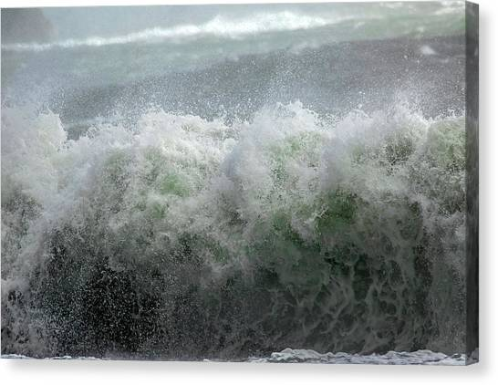 Tumbling Canvas Print - Wave On A Mission by Betsy Knapp