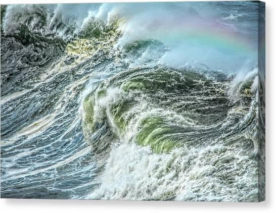 Wave Rainbow Canvas Print