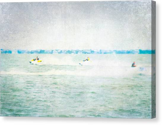 Jet Skis Canvas Print - Wave Runners by Colleen Kammerer