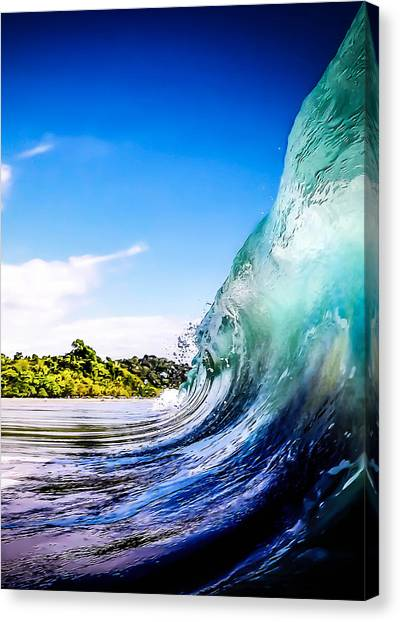 Costa Rican Canvas Print - Wave Wall by Nicklas Gustafsson