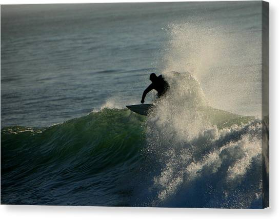 Waverider Canvas Print by Mike Coverdale