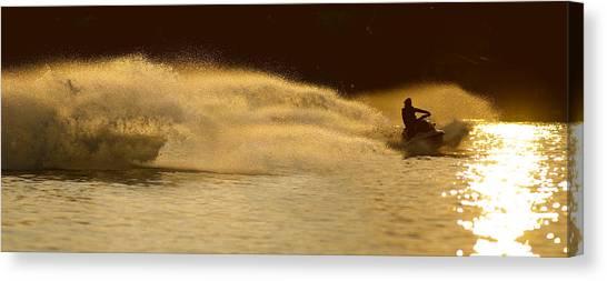 Lake Sunsets Canvas Print - Waverunner Weekend by Steve Gadomski