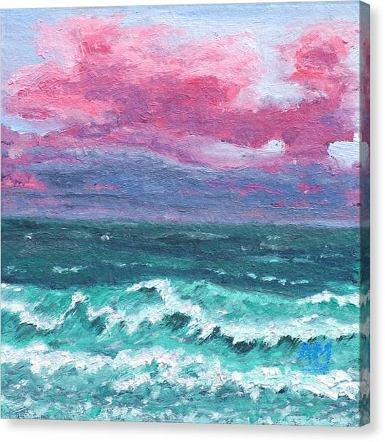 Waves 4 Canvas Print by Alex Mortensen