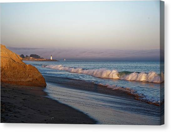 Waves At Santa Cruz Canvas Print