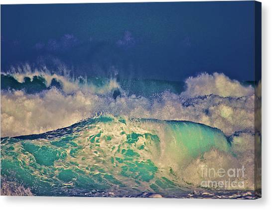 Waves Breaking Canvas Print