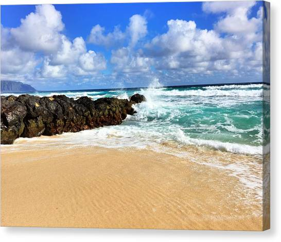 Waves Crashing Canvas Print