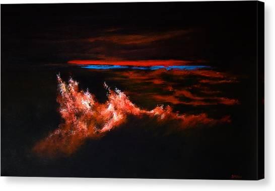 Waves Canvas Print by DEVARAJ DanielFranco