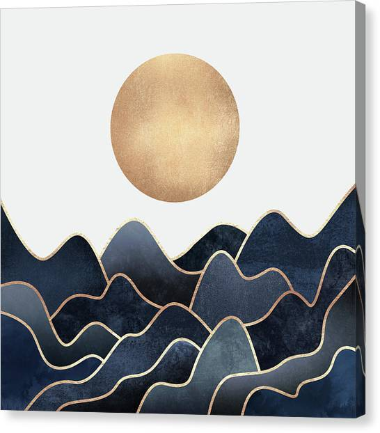 Landscapes Canvas Print - Waves by Elisabeth Fredriksson