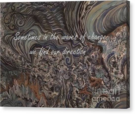 Waves Of Change Canvas Print