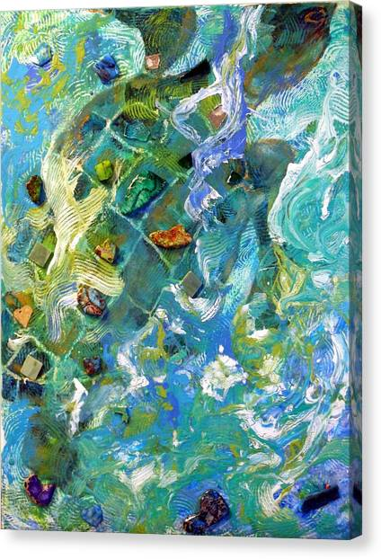 Waves Of Life Canvas Print