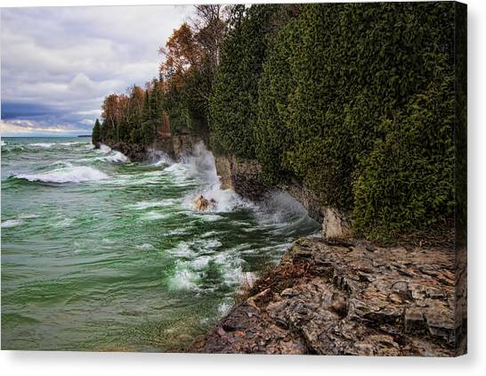 Underwater Caves Canvas Print - Waves Of Mercy by Bonnie Phillips