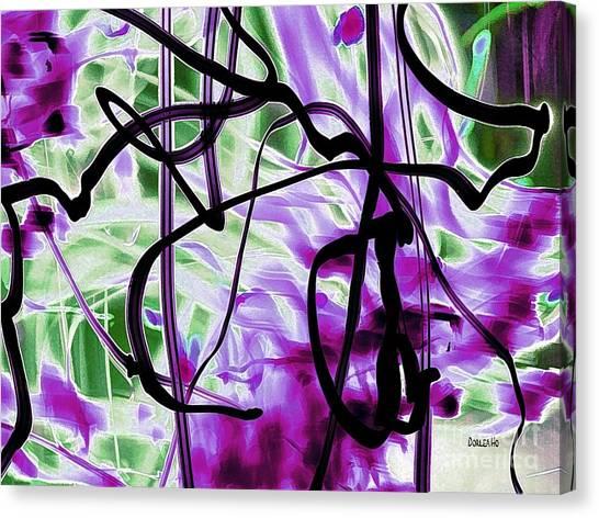 Waves Of Purple Canvas Print
