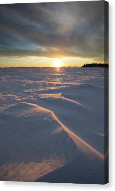 F16 Canvas Print - Waves Of Snow by Aaron J Groen