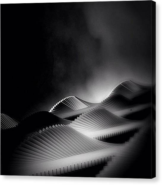 Igersoftheday Canvas Print - Waves Of Steel - Concrete Jungle by Robbert Ter Weijden