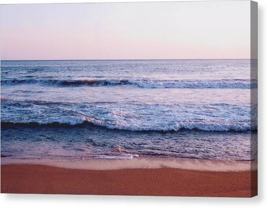 Waves On The Beach 2 Canvas Print by Lyle Crump