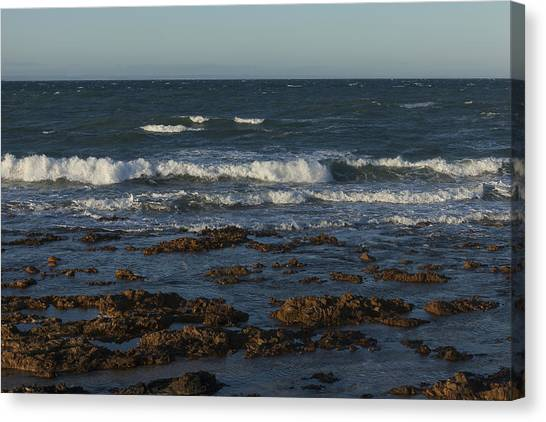 Waves Rolling Ashore Canvas Print