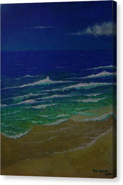 Waves Canvas Print by Ron Sylvia
