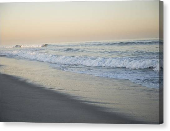 Venice Beach Canvas Print - Waves Splash Onto A Beach In Venice by Joel Sartore