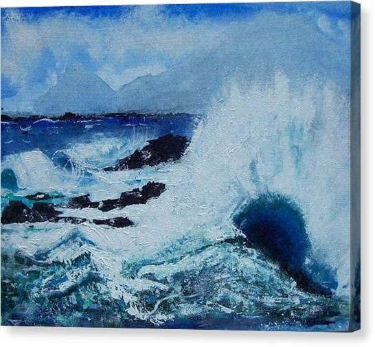 Waves Canvas Print by Valerie Wolf
