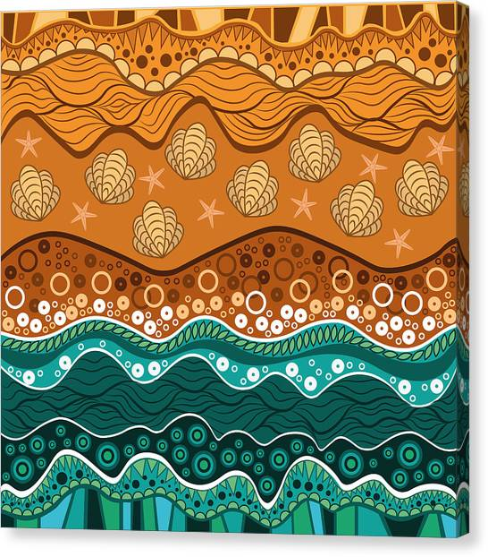 Seashell Canvas Print - Waves by Veronica Kusjen