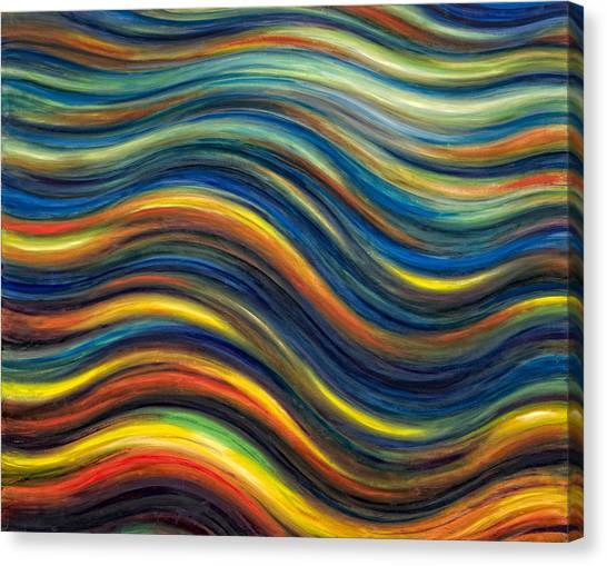Wavescape Canvas Print by De Es Schwertberger