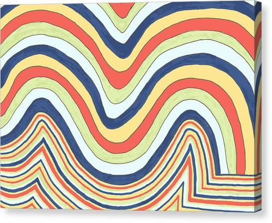 Waving Canvas Print